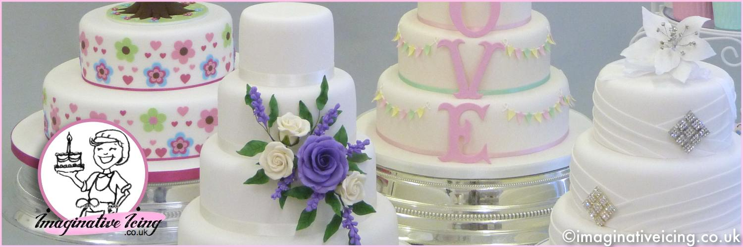 Wedding Cakes & Celebration Cakes made to order - Delivery available across the United Kingdom on request.  Imaginative Icing, 22 Falsgrave Road, Scarborough, UK. 01723 378116 Mon-Fri 9:30am - 5pm  Sat 9:30am - 12:30pm or use the online cake enquiry form.