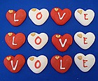 Valentines day edible love cake decorations