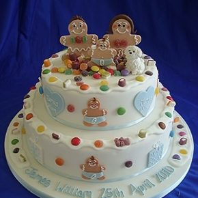 Gingerbread Christening Cake