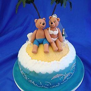 Desert Island Honeymoon Wedding Bears