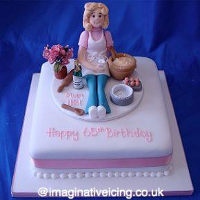 Birthday Baking lady