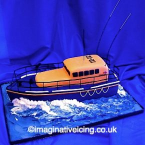 RNLI Lifeboat Birthday Cake 3D