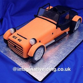 Open topped Sports Car Birthday Cake