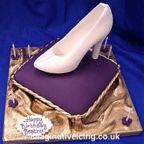 Cinderella's Glass Slipper Birthday Cake