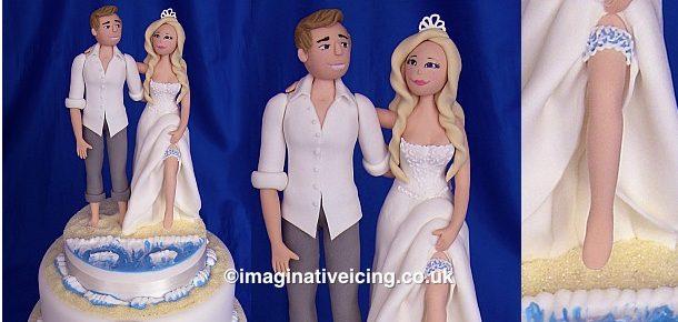 Seaside Beach Wedding Cake