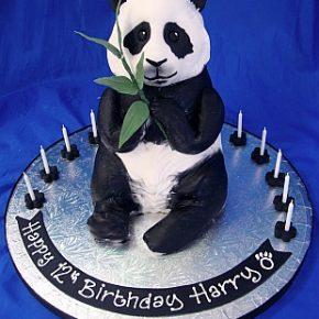 3D Panda Birthday Cake
