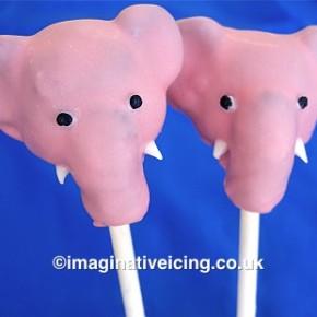 pink elephant cakepops