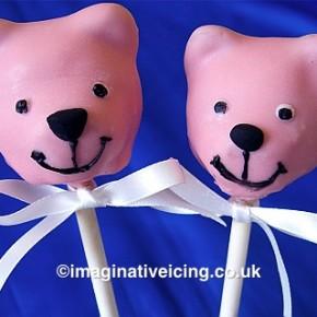 teddy bear cakepops