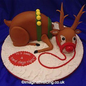 Rudolf the Reindeer 3D Christmas Cake