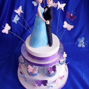Ballroom Dancing Glitter Butterfly Mirror Ball Cake