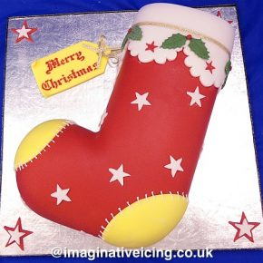 Christmas Stocking Christmas Cake
