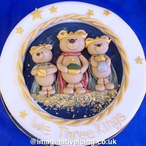 We Three Kings of Teddy Bears Far... Christmas Cake
