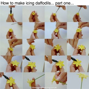"How to ""grow"" your own icing daffodils..."