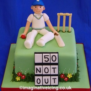 Yorkshire Cricket Player Birthday Cake