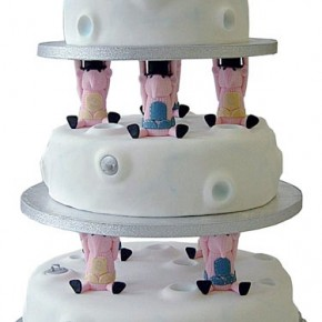 Clangers White Wedding Cake