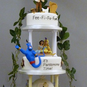 Jack & the Beanstalk - Aladin - Cinderella - Snow white & the Seven Dwarves - Pantomime Cake