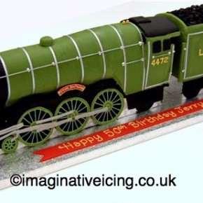 The Flying Scotsman Steam Locomotive Cake