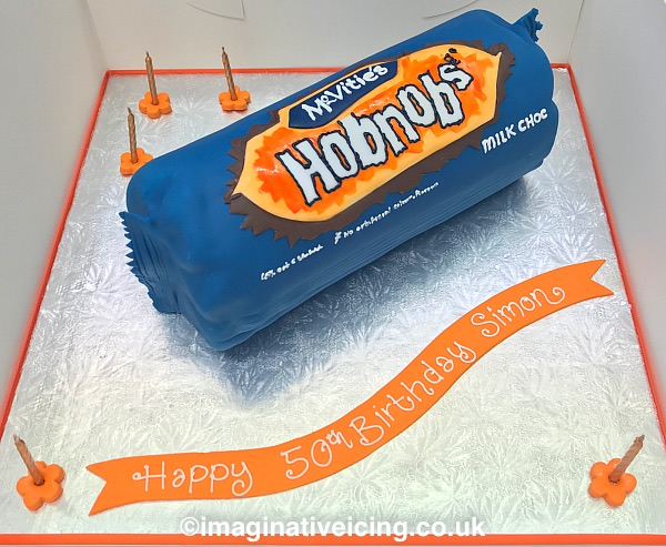 Milk Chocolate Hobnobs Birthday Cake