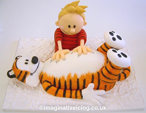 Calvin and Hobbes birthday cake 3D