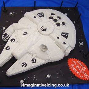 Millenium Falcon birthday cake - May the 4th be with you