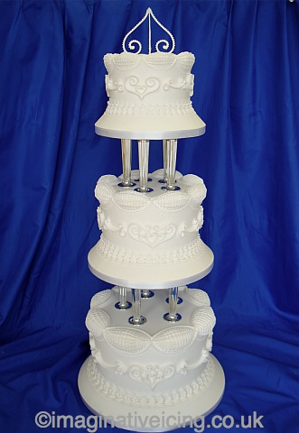 Classic Royal Iced Wedding Cake