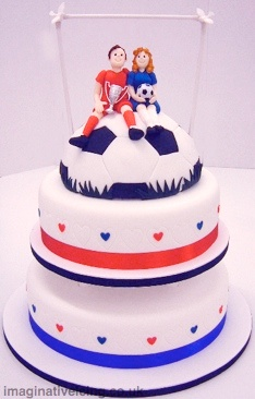 Match of the Day Wedding Cake