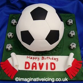 3D Football Birthday Cake