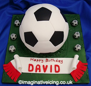 Groovy 3D Football Birthday Cake Imaginative Icing Cakes Personalised Birthday Cards Paralily Jamesorg