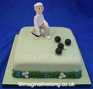 Crown Green Bowling Birthday Cake | Imaginative Icing ...