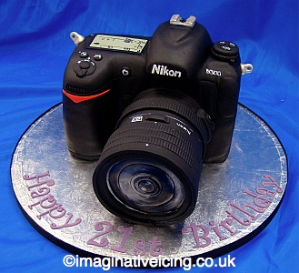 Stupendous Slr Camera Birthday Cake Imaginative Icing Cakes Scarborough Funny Birthday Cards Online Benoljebrpdamsfinfo