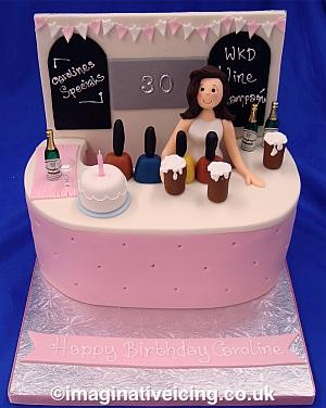 Bar Girl Birthday Cake Imaginative Icing Cakes