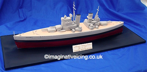 King George V Battleship WWII Birthday Cake | Imaginative ...