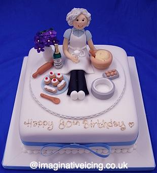 Granny Baker Birthday Cake