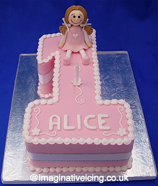 Birthday Number cake - Pink for a Girl