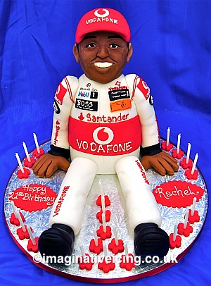 3d Motor Racing Driver Birthday Cake Imaginative Icing