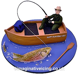 Miraculous Freshwater Fishing Fisherman Birthday Cake Imaginative Icing Funny Birthday Cards Online Elaedamsfinfo