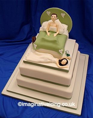 Wedding Bed Wedding Cake - Stacked