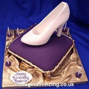 Cinderella's Glass Slipper Birthday Cake