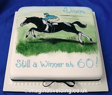 Swell Race Horse Rider Birthday Cake Imaginative Icing Cakes Birthday Cards Printable Giouspongecafe Filternl