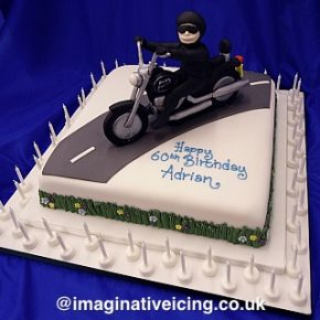 60th Birthday Motorbike Rider Cake