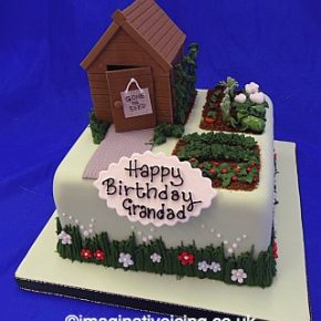 Garden Shed Allotment Birthday Cake