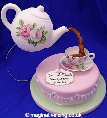 Astounding Icing Teapot Icing Tea Cup Saucer Cake Imaginative Icing Personalised Birthday Cards Cominlily Jamesorg