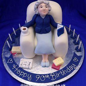 Granny Sat in an Armchair Birthday Cake