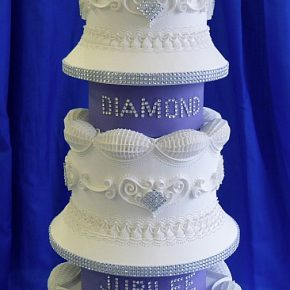 The Queens Diamond Jubilee Royal Iced cake