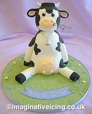 Moo Cow Christening Cake, Naming Day, 1st birthday Cake