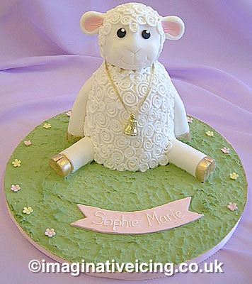 Baby Lamb Christening Cake Naming Day 1st Birthday