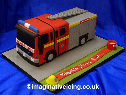 Enjoyable Fire Engine Shaped Birthday Cake Imaginative Icing Cakes Personalised Birthday Cards Arneslily Jamesorg