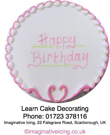 Cake Decorating Help, Advice and Learning opportunities available at Imaginative Icing, 22 Falsgrave Road, Scarborough, North Yorkshire, YO12 5AT. Ask instore for more info or Call 01723 378116.