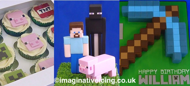 Minecraft Themed Birthday Cakes
