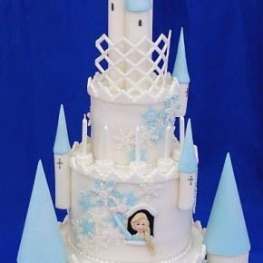 Fairytale Castle Cake with Snowflakes & Ice Turrets